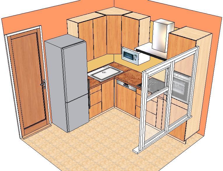 Холодильник у двери
