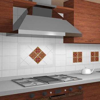Кухонный фартук под вытяжкой